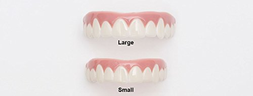 Imako Cosmetic Teeth for Women 1 Pack. (Small, Bleached) Uppers Only- Arrives Flat. Fit at Home Do it Yourself Smile Makeover! by Imako (Image #4)