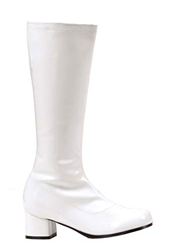 Ellie Shoes Girls White Go Go Boots X-Large (4-5)