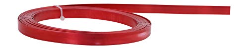 Mandala Crafts Flat Aluminum Wire for Bezel, Sculpting, Armature, Jewelry Making, Gem Metal Wrap, Gardening; Anodized Colored and Soft (Red, 10mm Wide 16.5 Feet Long 18 Gauge)