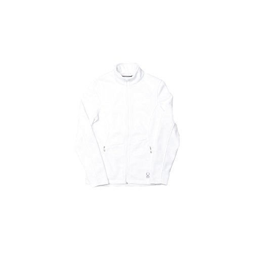 (Spyder Women's Endure Full Zip Sweater, White, Large)