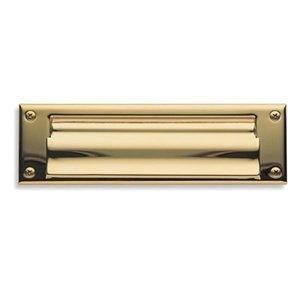 Chrome Mail Slot - Baldwin 0015260 Letter Box Plate, Bright Chrome
