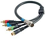 (C2G/Cables to Go 42075 RapidRun Component Video and SVideo Flying Lead (1.5 Feet, Black))