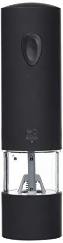 Peugeot 24581 Electric Soft Touch 8 Inch Pepper Mill, Onyx