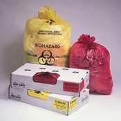 Jaguar Plastics® Health Care Trash Liners LINER,24X32, 1.3 MIL,RD (Pack of2)