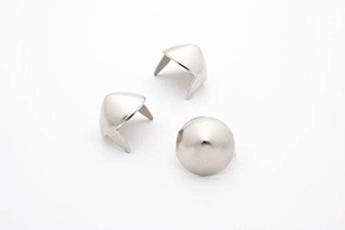 Cone Studs - Size 13 - Ideally used for Denim and Leather Work - Classic Two-Prong Studs - Silver Colored - Pack of 500 studs and spikes