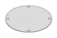 Diaphragm (Size: 3'' Dia. with Four mounting Holes) VPD085 by Replacement Parts Industries RPI