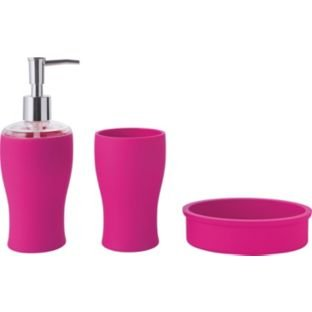 colourmatch bathroom accessories set funky fuchsia set includes lotion dispenser soap dish - Funky Bathroom Accessories Uk