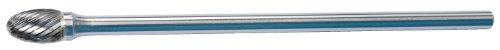 Oval Carbide Burr (Easy Abrasives SE-5L6 Oval Shape Long Shank Carbide Bur, Single Cut, Radius End, 1/2