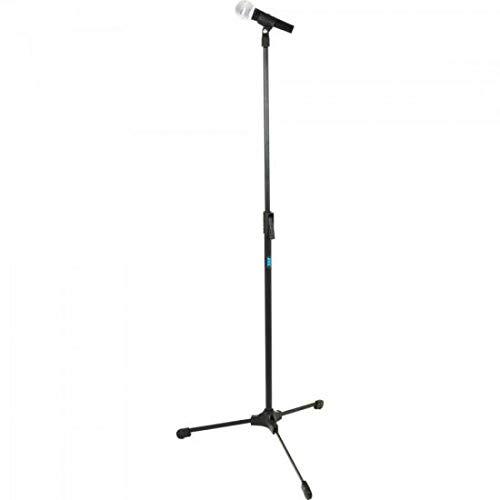 Pedestal Reto para Microfone, Ideal para Estúdio, Ask, TPR, Preto
