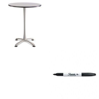 KITSAF2463SLSAN30001 - Value Kit - Safco Cha-Cha Bistro Height Table Base (SAF2463SL) and Sharpie Permanent Marker (SAN30001) by Safco