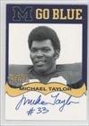Michael Taylor (Football Card) 2002-07 TK Legacy Michigan Wolverines - Go Blue Autographs #MGB128