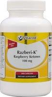 Vitacost Raspberry Ketones Featuring Razberi-K -- 100 mg - 200 Capsules by Vitacost Brand