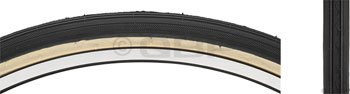 Kenda K40 Street Tire, 26 x 1-3/8 Wire Black/Yellow skin