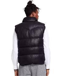 Denim Supply Ralph Lauren Vegan Faux-Leather Down Vest