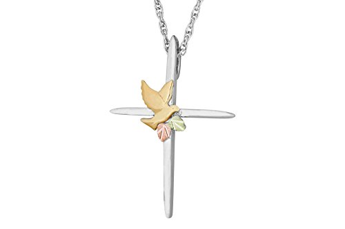 Black Hills Gold Silver Cross Necklace by Black Hills Gold Jewelry