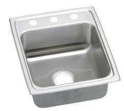 (Elkay LR1720 Gourmet Lustertone Commercial Sink, Top Mount, Sink Only, 17