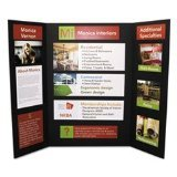 Elmer's CFC-Free Polystyrene Foam Premium Display Board, Open: 36 inches x 48 inches, Closed: 24 inches x 36 inches, Black, 12/Carton
