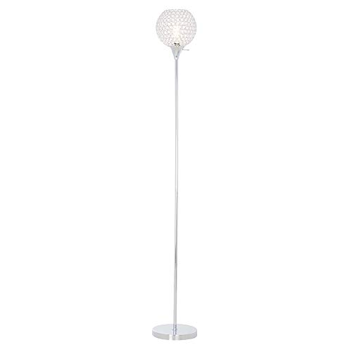 Rivet Modern Glam Chrome Torchiere Floor Lamp, 71