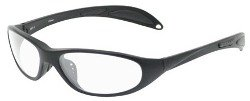 Gloss Black Nylon Frame (Night riding glasses with smaller lenses and profile make this frame slim faces love - Gloss black Nylon frame style with clear AR coated polycarbonate lens.)