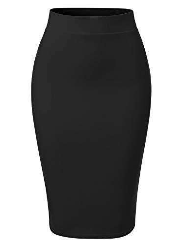 MixMatchy Women's Casual Classic Bodycon Pencil Skirt