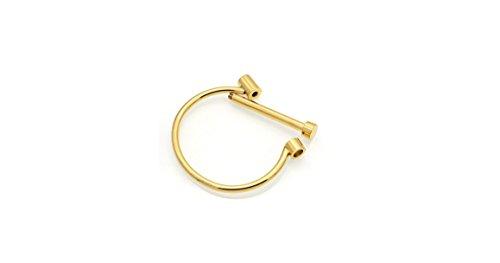 (Fashionvare Women's Stainless-Steel Flat Head Screw Shackle Bracelet Gold)