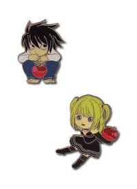 Chibi L and Misa Death Note Pins (Set of 2)
