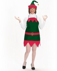 Halco - Elf Holiday Apron and Hat Adult, Green, One Size by (Elf Holiday Apron And Hat Adult)