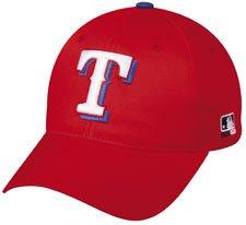 MLB ADULT Texas RANGERS Alternate ALL RED Hat Cap Adjustable Velcro TWILL