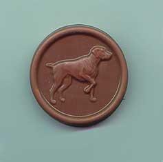 Birds Medallions (Chocolate Bird Dog Medallion - 5 pack)