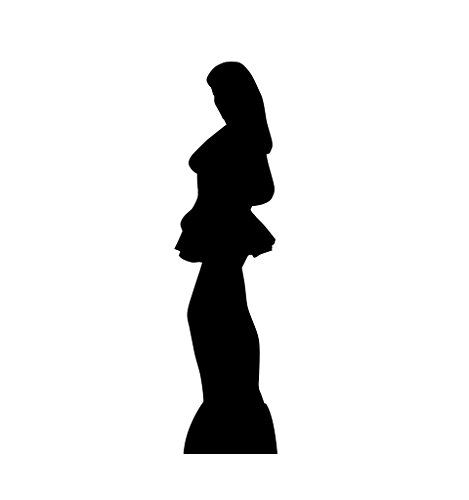 Profile Silhouette (Woman Side Profile Silhouette - Advanced Graphics Life Size Cardboard Standup)
