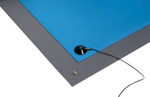 3M - 6870 - Static Dissipative 2-Layer Rubber Table Mat, Gray, 4 x 50