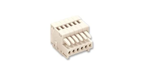 1X WAGO 733-106 TERMINAL BLOCK 20AWG 6POS PLUGGABLE