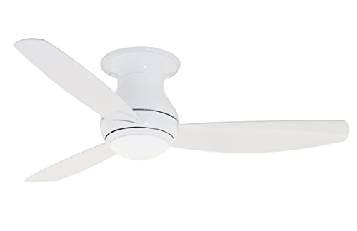 (Emerson CF152LWW Curva Sky 52-inch Modern Ceiling Fan, 3-Blade Ceiling Fan with LED Lighting and 6-Speed Remote)