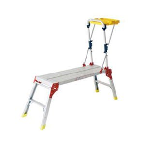 Vfm 357146 Aluminium Work Platform With Hand Rail And Tool