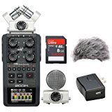 Zoom H6 Portable Recorder Kit with a Custom Windbuster, AD-17 AC Adapter and a 16GB SDHC Memory Card Ultra by Zoom