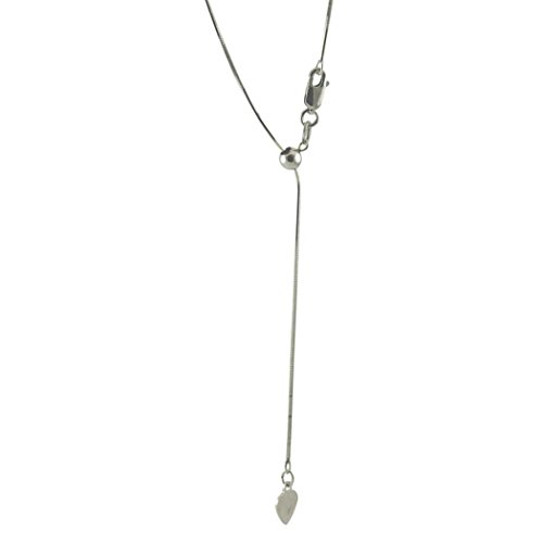 apop nyc Adjustable Sterling Silver Bolo Chain Necklace max Length 22 inch