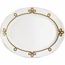 Haviland Brandebourg Gold Oval Platter ()