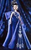 Sweeping Train Satin - Sapphire Splendor Barbie: The Jewel Essence Collection by Bob Mackie
