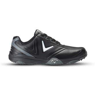 Callaway Chev Comfort Golf Shoes, Men, Black (Black/Silver), 44.5 EU