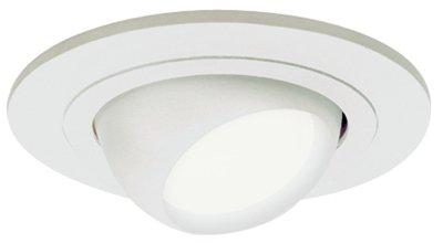 Cooper Lighting 998P Light Fixture, Adjustable Eyeball, White, 4-In.