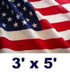 Sun-Brite Nylon U.S. Outdoor Flag, 3' x 5'