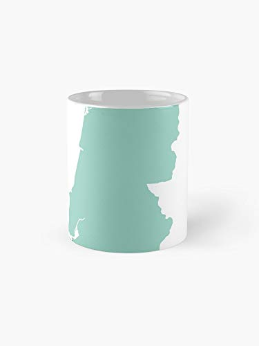 Portugal Love In Mint Mug - 11oz - The most meaningful gift for family and friends.