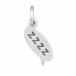925 Sterling Silver zzzz Text Message Charm
