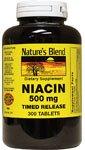 La niacine à dégagement graduel 500 mg 500 mg 300 Comprimés par mélange de la Nature