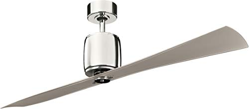 Kichler 300160PN 60-Inch Ferron Fan, Polished - Brass Tone Accents