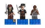 LEGO Pirates of the Caribbean Magnet Set: Jack Sparrow, Hector Barbossa and Gunner Zombie 853191 -