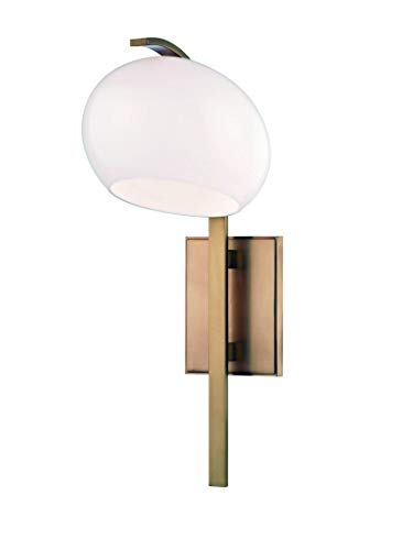Hudson Valley Lighting Hudson Valley 6600-AGB Contemporary Modern One Light Wall Sconce from Perrault Collection in Brass-Antiquefinish, 10