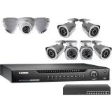 Lorex 16 Channel 1080P HD NVR Security System LNR400 Series with 9 Weatherproof POE Cameras