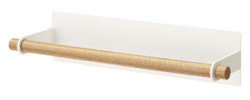 YAMAZAKI home Magnetic Paper Towel Holder Tosca Kitchen Storage, Brown, Medium ()