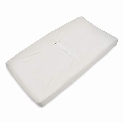 American Baby Company Heavenly Soft Chenille Fitted Contoured Changing Pad Cover for Boys and Girls, Ivory